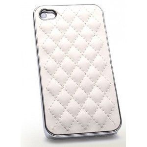 Luxuriöse Chrome Genuine Leder Hülle für iPhone 4/4s