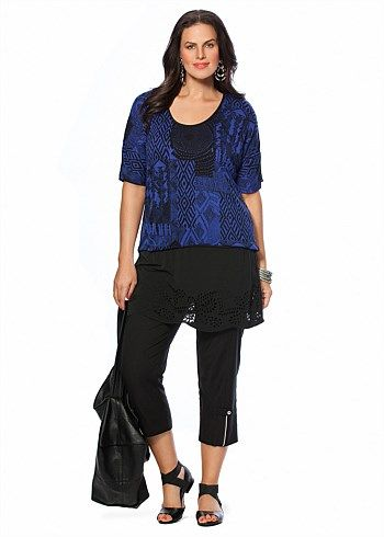 #TS14+ Shake the Blues Top #plussize #curvy