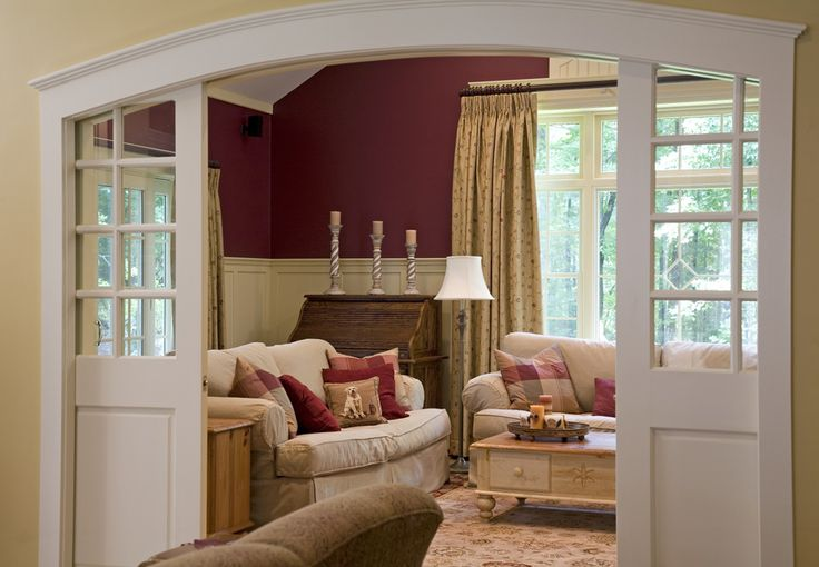 Awesome pocket doors and arched doorway idea for between for Pocket door ideas