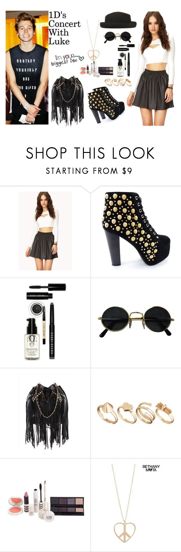 """1D's Concert With Luke Hemmings"" by still-into-malik ❤ liked on Polyvore featuring Forever 21, Jeffrey Campbell, Bobbi Brown Cosmetics, Vans, Topshop and Aéropostale"
