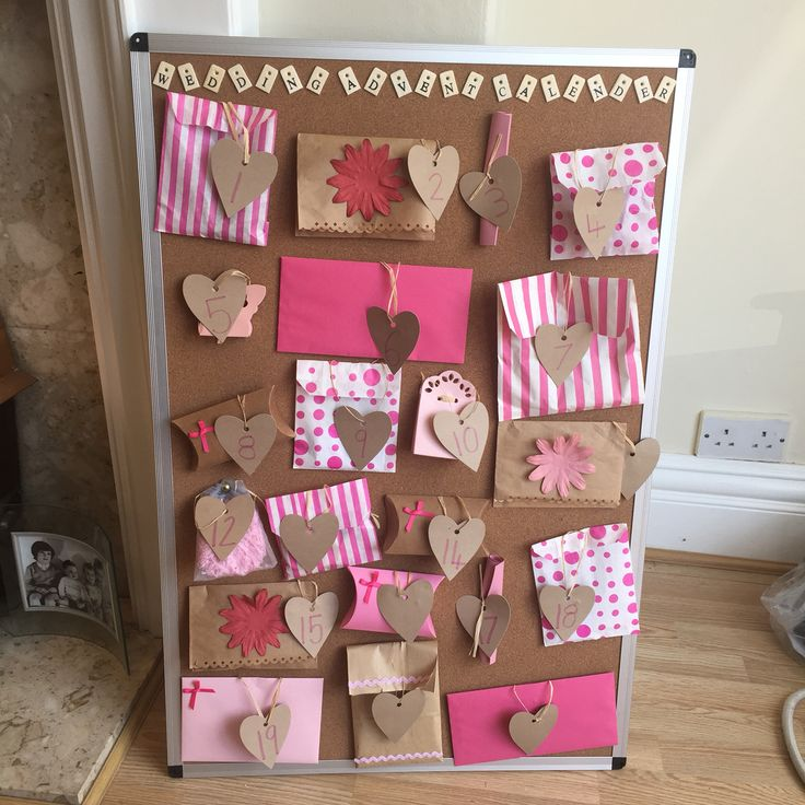Wedding advent calendar chief bridesmaid duties wedding - Pinterest advent ...