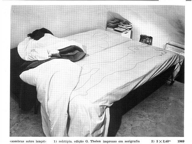 Lourdes Castro, Sombras sobre lencol 2 (1969)