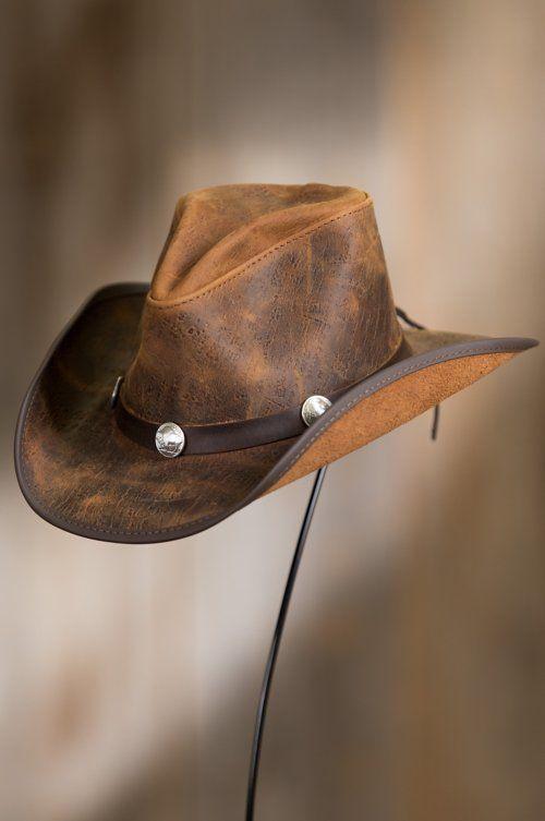 Cyclone Leather Cowboy Hat with Buffalo Nickels en 2019  325b9bf1959