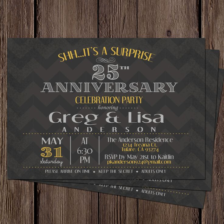 silver wedding anniversary invitations%0A Anniversary Invitation   Surprise   th by OhhDeerDesigns on Etsy  https   www etsy