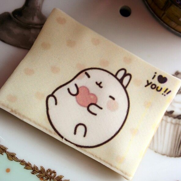 Beautiful #molang sugar #cookies, you can choose the image or message to personalize them!