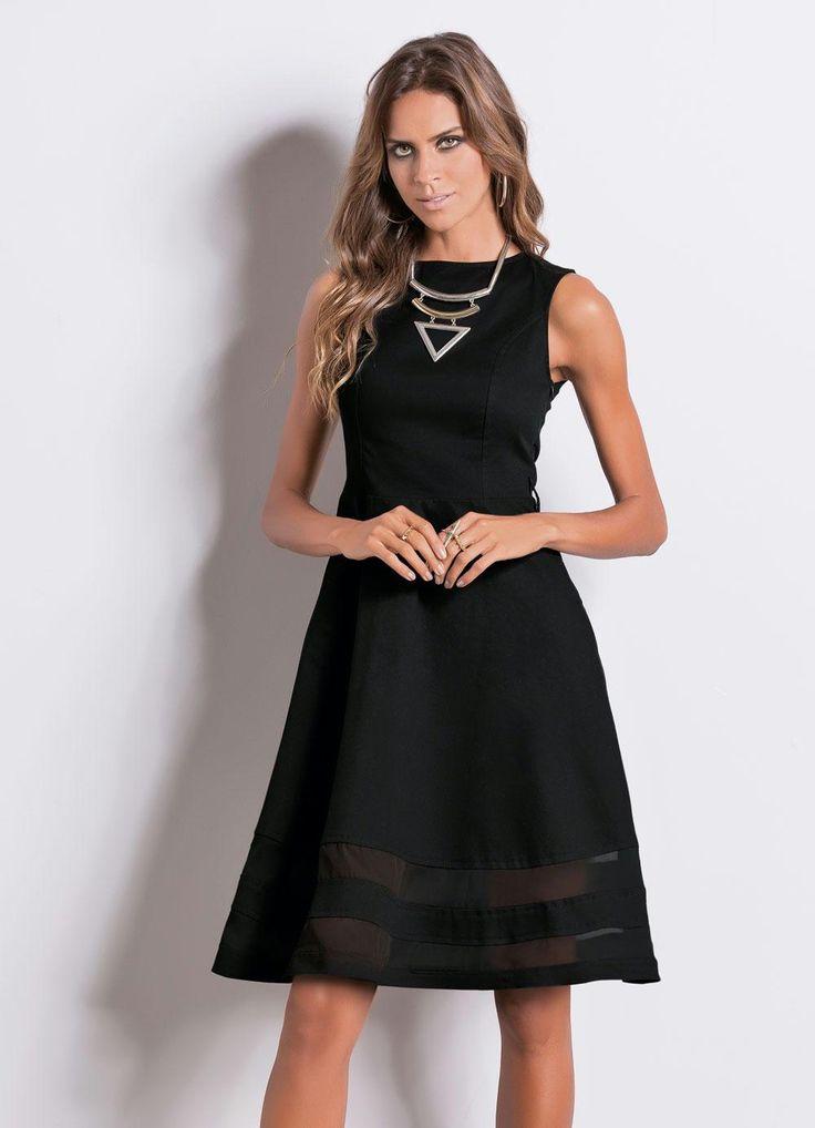 Vestido wee floral preto