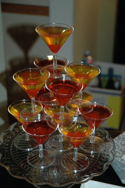 Jello shots disguised as martinis - maybe something a little less alcoholic, but just as fun?