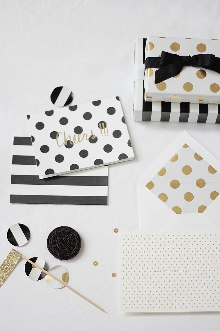 Obsessed with Black, white and gold right now! Polka Dot Wedding Inspiration: Fun and Fabulous!
