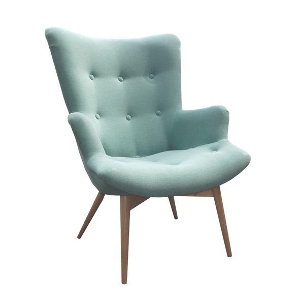 Fotel Old Style miętowy