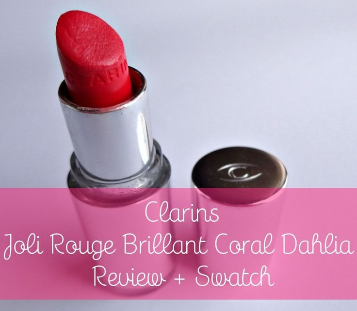 Clarins Joli Rouge Brillant Coral Dahlia - Review + swatch + look