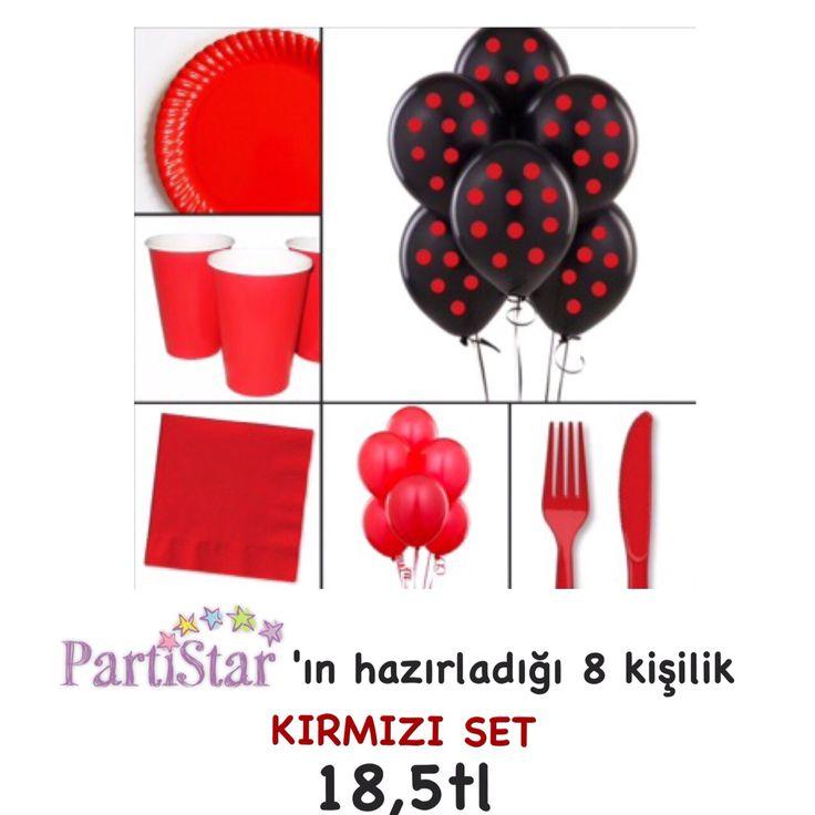 Sevgililer Günü yaklaşıyor... Siz de sevdiğiniz kişiye #PartiStar'ın kırmızı setiyle muhteşem bir parti yapabilirsiniz! #parti #party #partistar #red #kirmizi #sevgililergunu #valentineday #partimalzemeleri #partisusleri #organizasyon #balon #surpriz