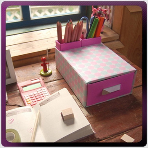 Plain Diy Desk Organization Ideas Organizer Collecting Box Drawerpen Container 4 For