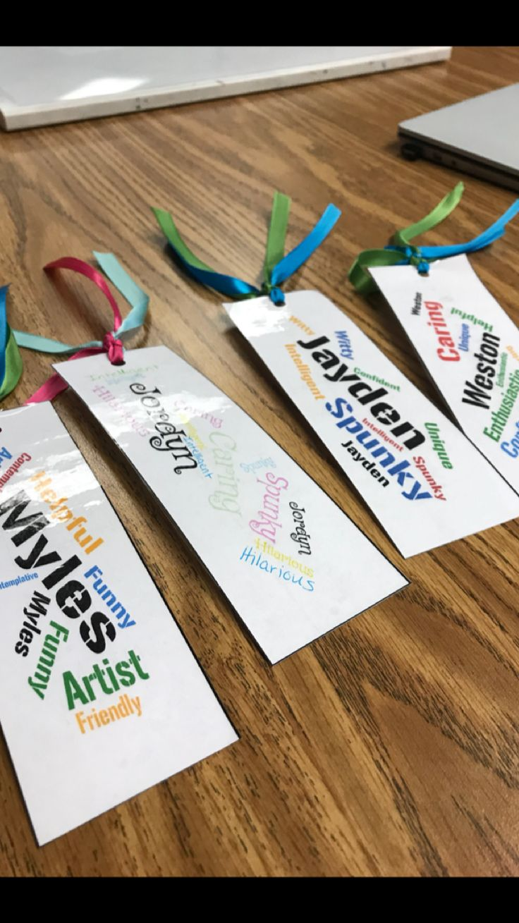 During my student teaching experience, I got to know all of my students and the hardest part of leaving was leaving them. So to let them know how special they all are, I created personalized bookmarks for each one using word cloud. They loved them as a good bye present! #studentgifts #bookmark #studentteaching
