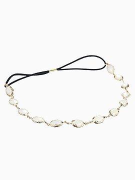 White Stone Stretch Headband