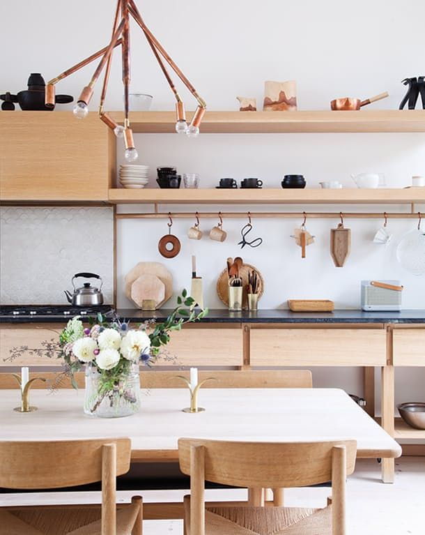 These Kitchen Design Trends That Are Here to Stay. Sleek & modern spaces with organic touches (think indoor plants, wood accents) wrapped up in silky white color is a kitchen trend we still love. Versatile, trendy & stylish.