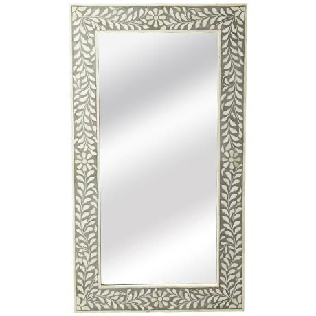 mirror 20 x 36. laviano gray bone inlay 20 1/2\ mirror x 36