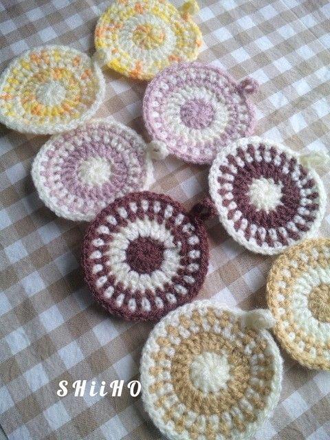まるまるエコたわしの作り方|編み物|編み物・手芸・ソーイング | アトリエ|手芸レシピ16,000件!みんなで作る手芸やハンドメイド作品、雑貨の作り方ポータル