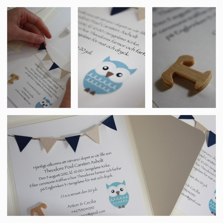 Christening Invitations  BABY / DIY /   www.clareira.se/blog