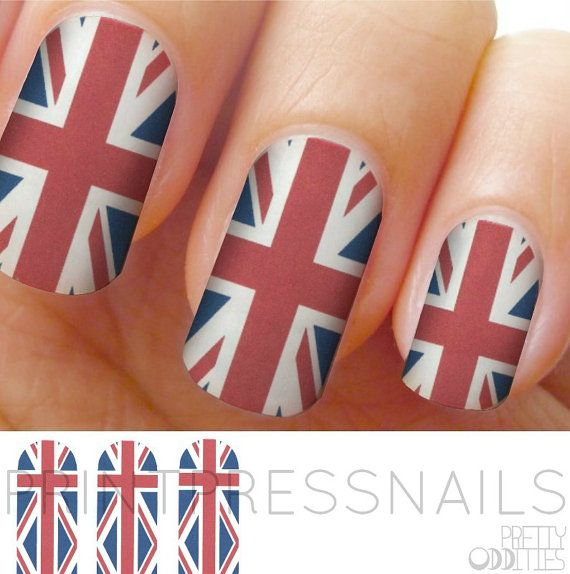 The 25 best british flag nails ideas on pinterest flag nails union jack british flag nail wraps nail stickers nail decals prinsesfo Image collections