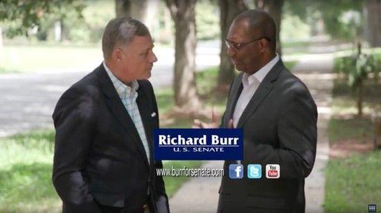 Richard Burr couldn't find black schoolchildren in North Carolina for his ad?