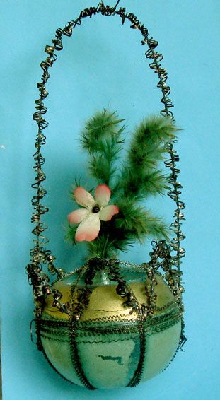 Victorian Christmas ornaments Christbaumschmuck, Weihnachten Ornamente Draht umwickelt