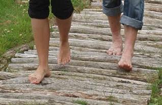 Flevoland blote voetenpad Noordoostpolder