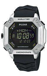 Pulsar by Seiko World Time Alarm Chronograph Digital Men's watch #PW3001