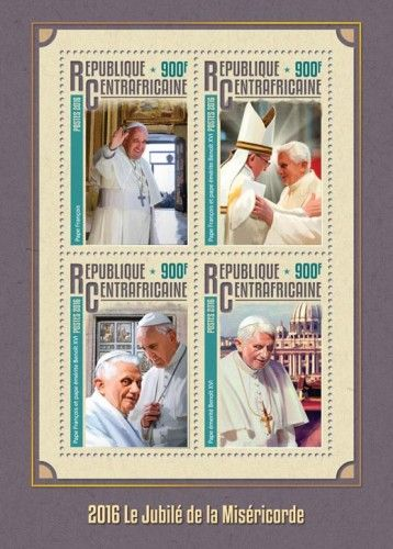 CA16315a 2016 The Jubilee of Mercy (Pope Francis; Pope Francis and Pope Benedict Emeritus; Pope Benedict Emeritus)