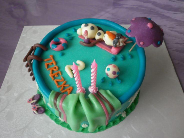 OLAF cake v bazéně