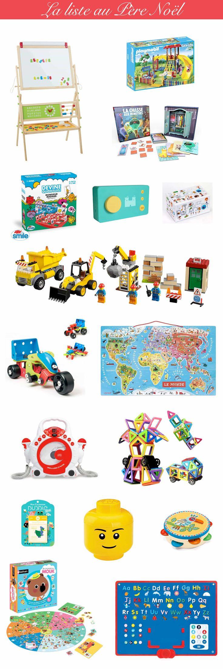 La liste au Père Noël : idées cadeau pour un enfant de 4 ans - Idée cadeau garçon & fille #noel #jouets #jeux #ideecadeau #cadeau #enfants