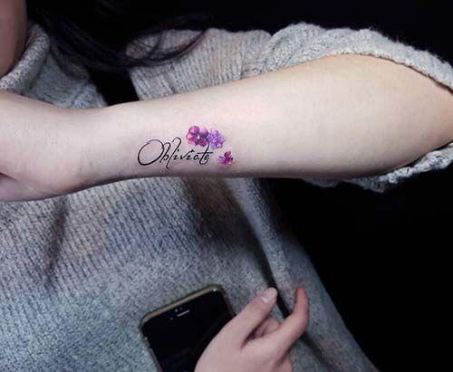 çiçekli isim bilek dövmeleri bayan floral name wrist tattoos for women