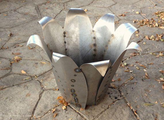 Agave Fire Pit Sculpture Metal Garden Art Yard Art Fire