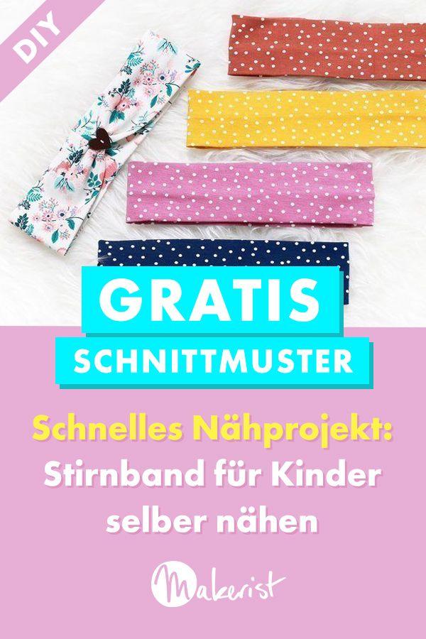 Stirnband / Haarband für Kinder annähen   – Nähen für Kinder