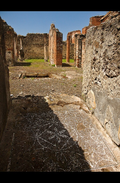 Ruins with mosaic paving