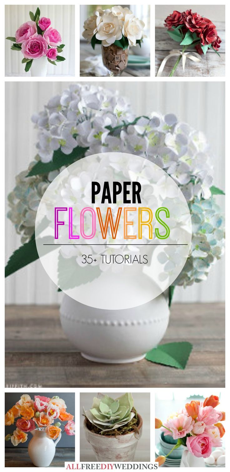I love making paper flowers, especially for weddings!