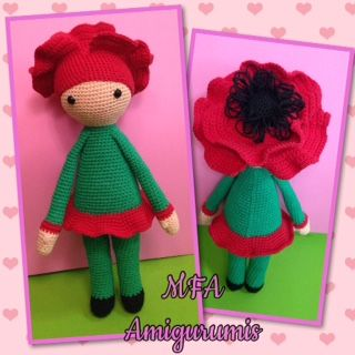 Poppy Paola doll made by Florencia A - crochet pattern by Zabbez