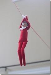 Elf on the shelf zip line.