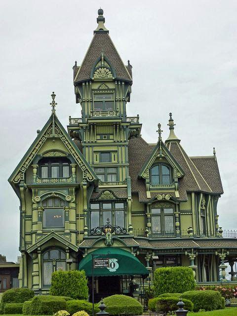 The Carson Mansion a Beautiful Victorian House in Eureka California