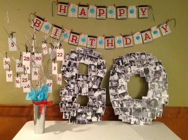 64 best 80th Birthday Party Ideas images on Pinterest 80th
