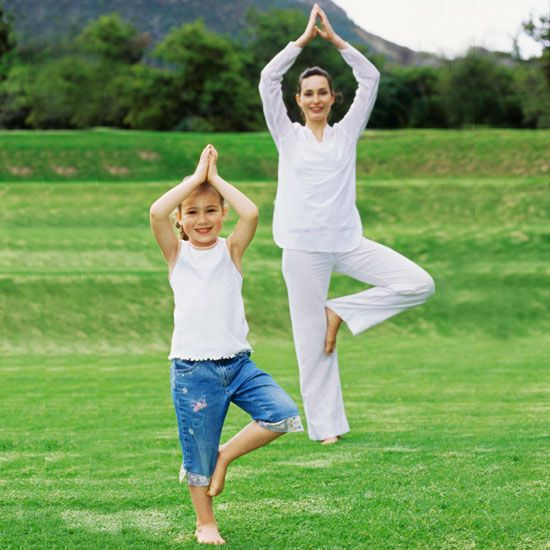 Yoga poses to do with the kids. This would be a good brain break too!