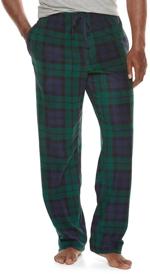 Croft & Barrow Men's Patterned Microfleece Lounge Pants