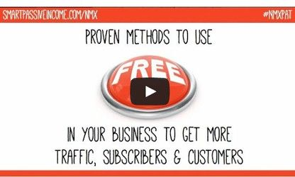 Today I'm incredibly excited to share a full-length video recording of Pat Flynn's presentation at the New Media Expo this past January!      The presentation is about the power of using FREE in your business and exactly how and why it should be used, by everyone, to get more traffic, subscribers and customers.