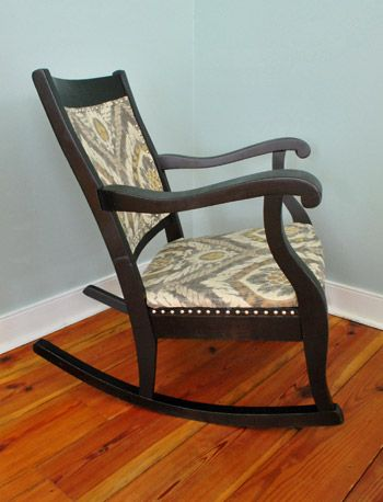 Young House Love | Redoing An Old Rocking Chair: Part Two | http://www.younghouselove.com