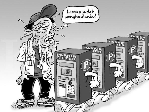 Kartun Benny, Kontan September 2014: Memberantas Parkir Liar