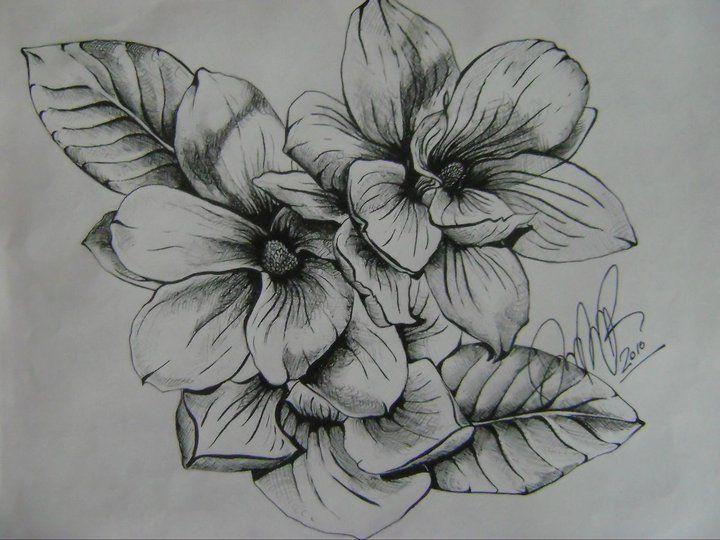 magnolia flower tattoo men - photo #22