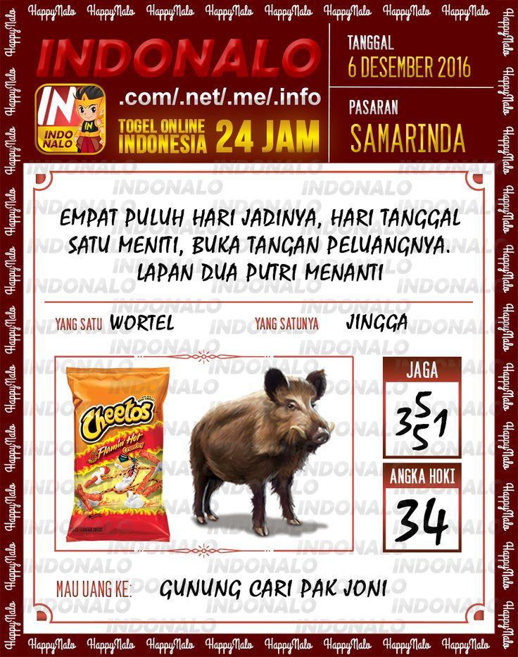 Angka Kumat 2D Togel Wap Online Live Draw 4D Indonalo Samarinda 6 Desember 2016