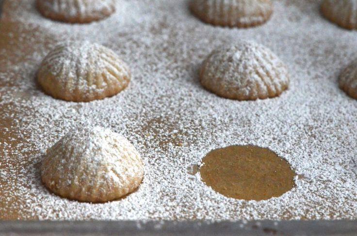 Lebanese Walnut Ma'moul (molded butter cookies) from Rose Water & Orange Blossoms