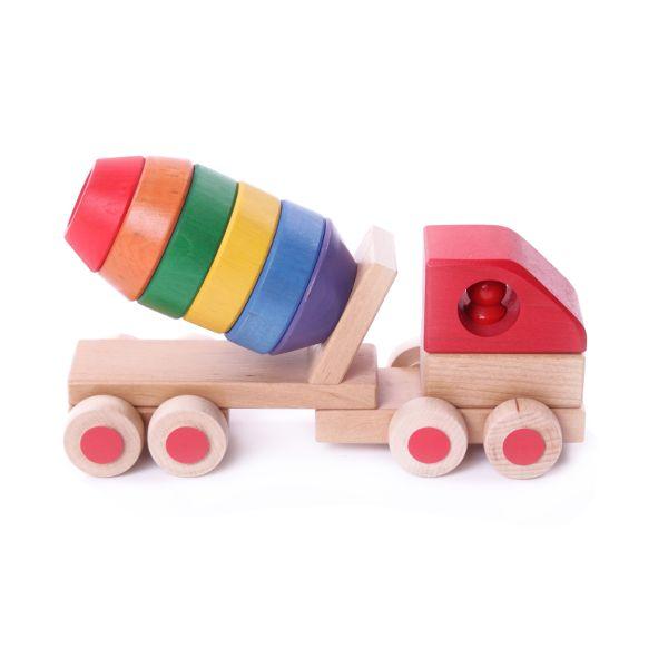 Holzspielzeug Betonmischer