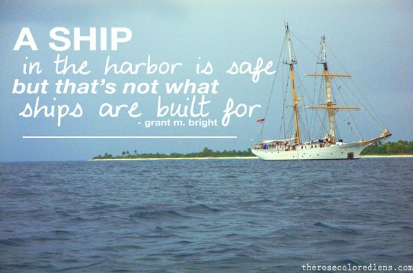 that's not what ships are built for.