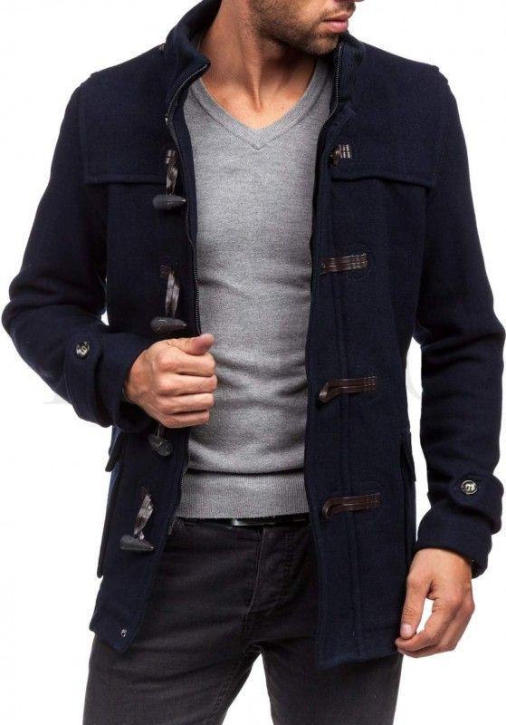 Pánský kabát - Laurel, tmavě modrý